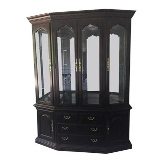 Traditional Thomasville Collectors Cherrywood China Cabinet