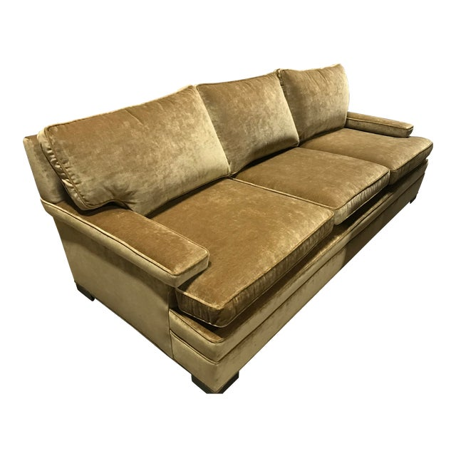 Contemporary Robert Allen for Lee Industries Velvet Upholstered Sofa For Sale