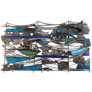 Aquatic Themed Del Campo Wall Sculpture For Sale