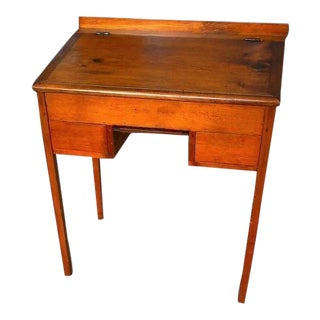 Early Pine Schoolmasters Desk With Writing Slate For Sale