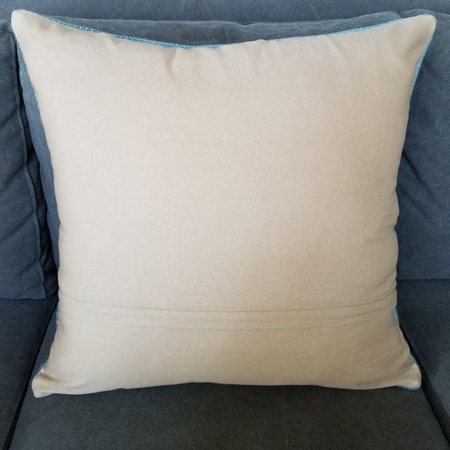 Vintage Geometric Turkish Rug Pillow - Image 6 of 6
