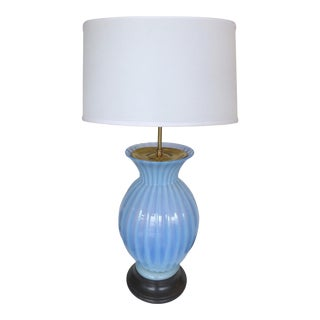 Blue Murano Glass Table Lamp by Marbro