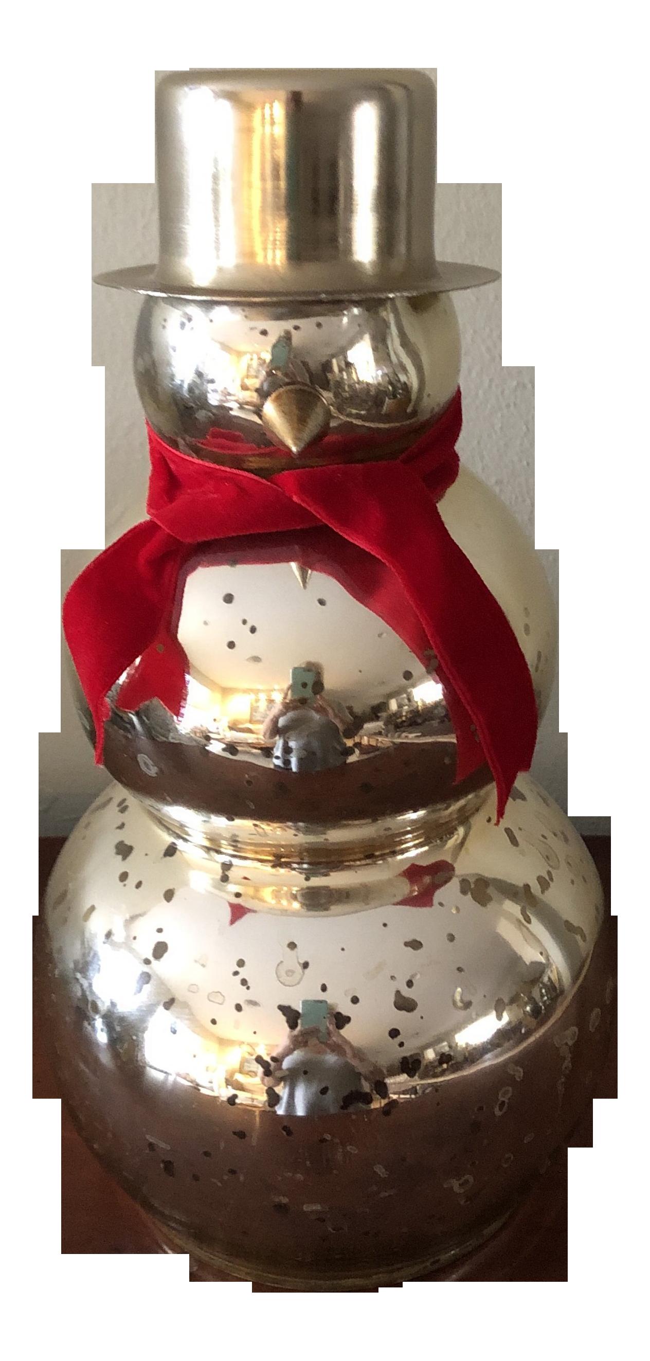 Vintage Holiday Mercury Glass Snowman Figurine Chairish
