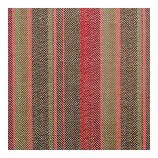 Callum Natural/Coral Multi Striped Fabric - 1 Yard For Sale