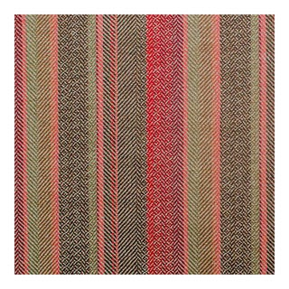 Callum Natural/Coral Multi Striped Fabric, From Scotland