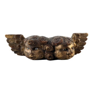 Antique Spanish Colonial Cupid Wall Sculpture For Sale