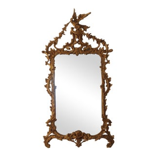 Vintage Gold Chinoiserie Mirror For Sale