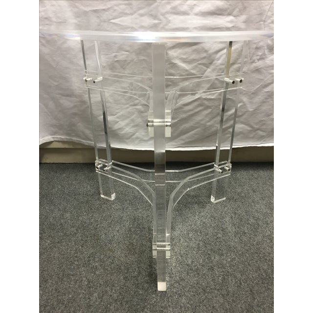 Mid-Century Modern Lucite Side Table - Image 6 of 9