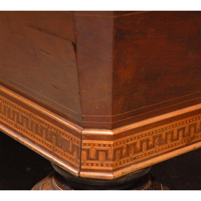 1860s Italian Carom Mahogany Billiard Table With Inlay For Sale In Los Angeles - Image 6 of 12
