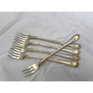 "Mid 20th Century Silver ""M""Monogrammed Olive Forks - Set of 5 Preview"