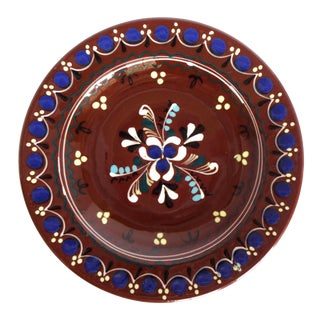 Early 20th Century French Poterie Savoyarde Brown Faience Plate For Sale