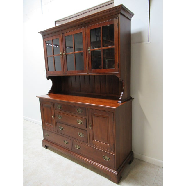 Stickley Stickley Furniture Cherry Chippendale China Cabinet For Sale - Image 4 of 11