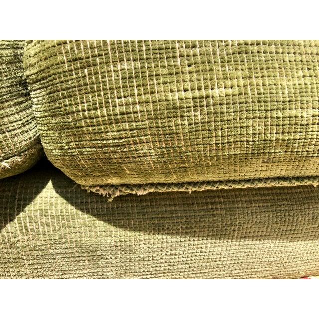 1990s 1990s Vintage Edward Ferrell Green Fringe Sofa For Sale - Image 5 of 13