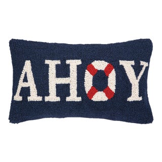 "Ahoy Hook Pillow, 9"" x 16"" For Sale"