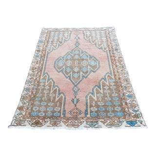 1960`s Turkish Distressed Anatolian Rug-3′11″ × 6′3″ For Sale