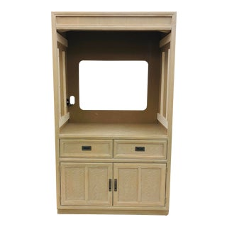 Vintage Campaign Style Hutch Cabinet For Sale