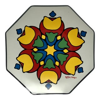 Peter Max Pop Art Glass Plate For Sale