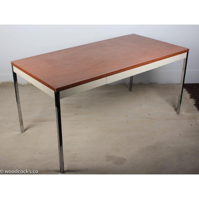 Steelcase Modern Minimalist Writing Desk - Image 6 of 9