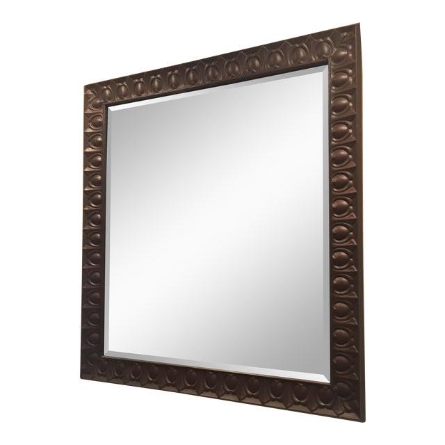Vintage Americana Tin Mirror For Sale
