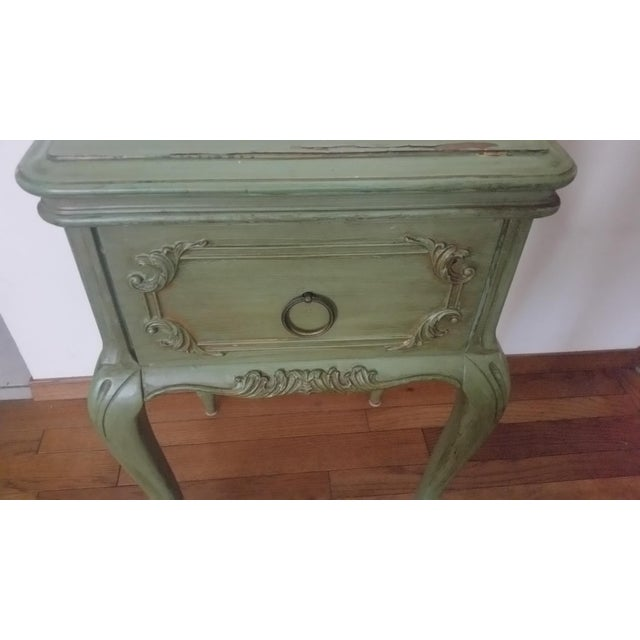 Green Antique Widdicomb Furniture Co. French Provincial Side Table For Sale - Image 8 of 8
