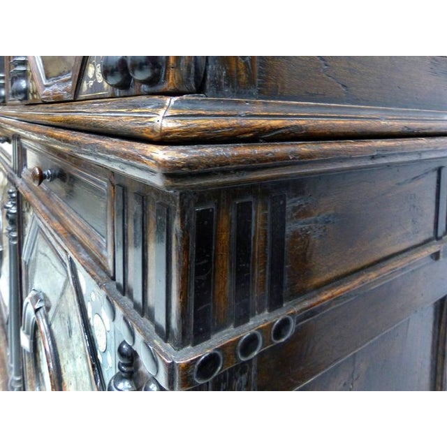 Restoration Charles II English Cabinet circa 1660-1685, Mother-of-Pearl Inlays For Sale - Image 9 of 11
