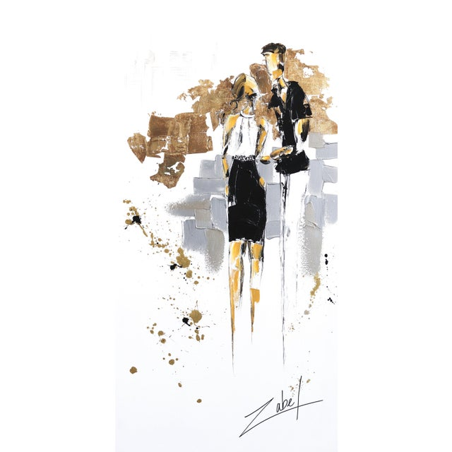 """""""Mademoiselle on the 5th"""" Original Artwork by Zabel For Sale - Image 9 of 9"""