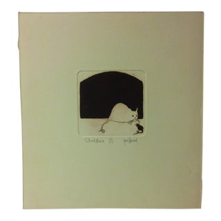 """Limited Edition Signed Numbered (21/100) Print, """"Cat and Mouse"""" by Janice Howard For Sale"""