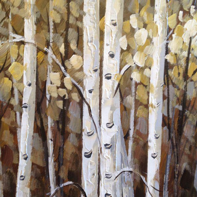 Aspens in Bloom Painting For Sale - Image 4 of 8
