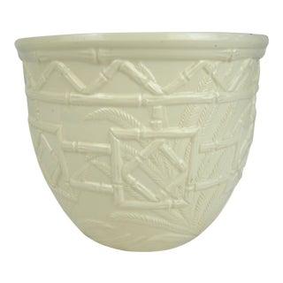 Bamboo Design Haeger Ceramic Planter For Sale