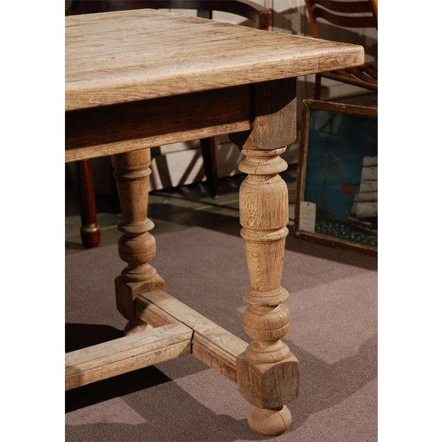 Traditional Late 19th Century Oak Desk or Writing Table From France For Sale - Image 3 of 8