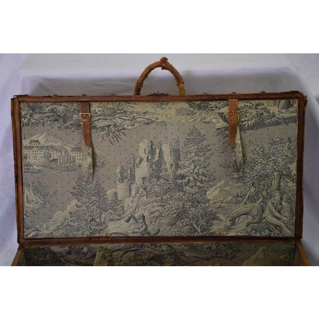 Antique Travel Dome Trunk For Sale - Image 4 of 13