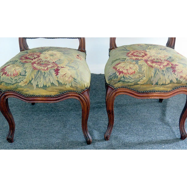 Mid Century Louis XVI Style Side Chairs- A Pair For Sale In Philadelphia - Image 6 of 10