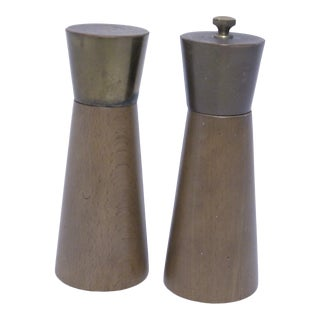 Mid-Century Wooden Salt and Pepper Shakers - a Pair For Sale