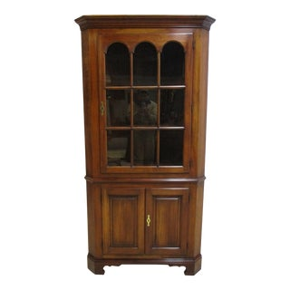 Statton Furniture Cherry Centennial Chippendale Corner Display Cabinet For Sale