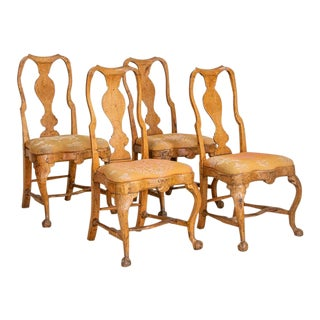 Antique Rococo Side Chairs Dining Chairs- Set of 4 For Sale
