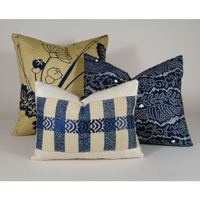 Japanese Silk Sakiori Obi Geometric Pillow Cover For Sale In Milwaukee - Image 6 of 6