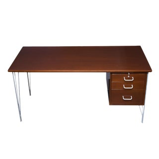 Danish Modern Single Pedestal Desk For Sale
