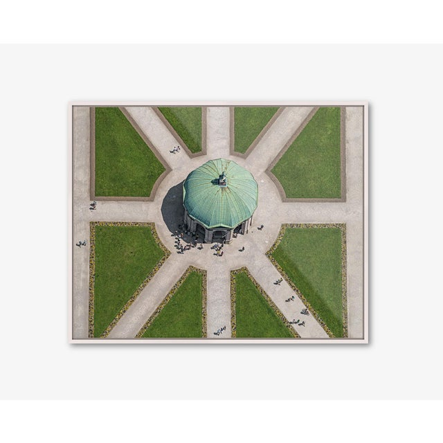 Edition Aerial Views Bernhard Lang Image: Dianatempel Size A: 47 x 37 inches, Captured in 2019 over Munich, Germany No 1...