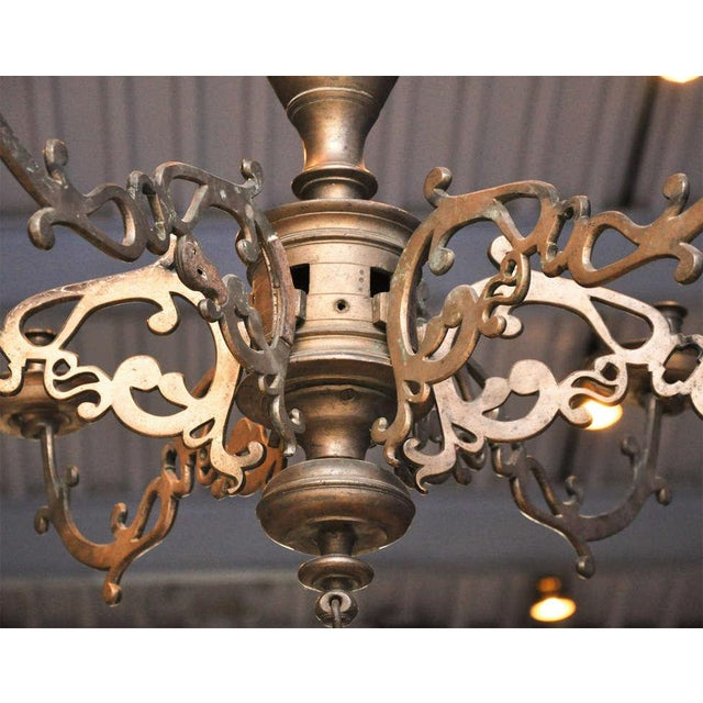 Spanish Bronze Chandelier - Image 4 of 7