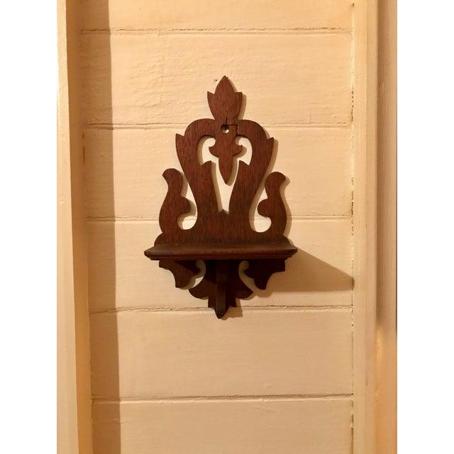 Victorian Bracket Design Wooden Decorative Wall Shelf | Chairish