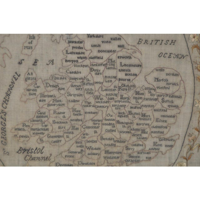 Early 19th Century Map of England and Wales Sampler For Sale - Image 5 of 10