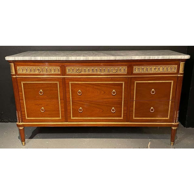 Pair of Monumental French Commodes in the Manner of Maison Jansen For Sale In New York - Image 6 of 13