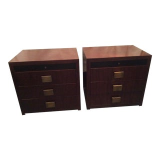 1990s Art Deco Bolier Rosewood Stands - a Pair For Sale