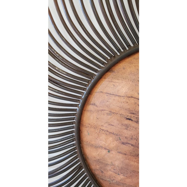 Curtis Jere Signed Sunburst Metal Wall Sculpture For Sale - Image 6 of 13