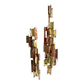 Mid Century Abstract Brutalist Wall Sculptures - a Pair For Sale