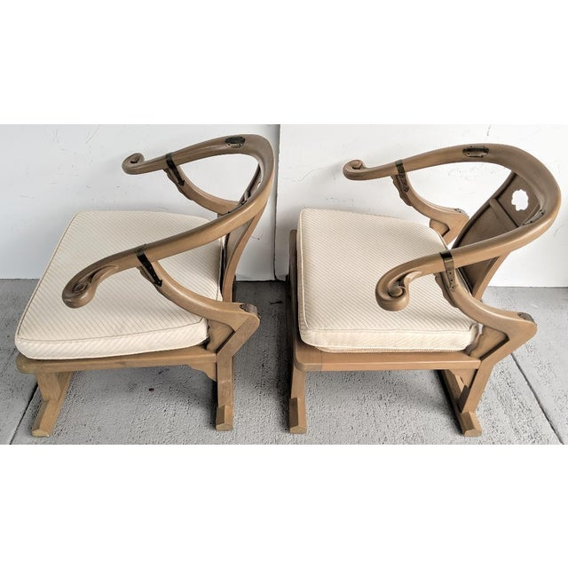 """Baker Furniture Company Baker Furniture, Michael Taylor - Oriental Lounge Chairs, """"Far East Collection"""", 1960's / a Pair For Sale - Image 4 of 13"""