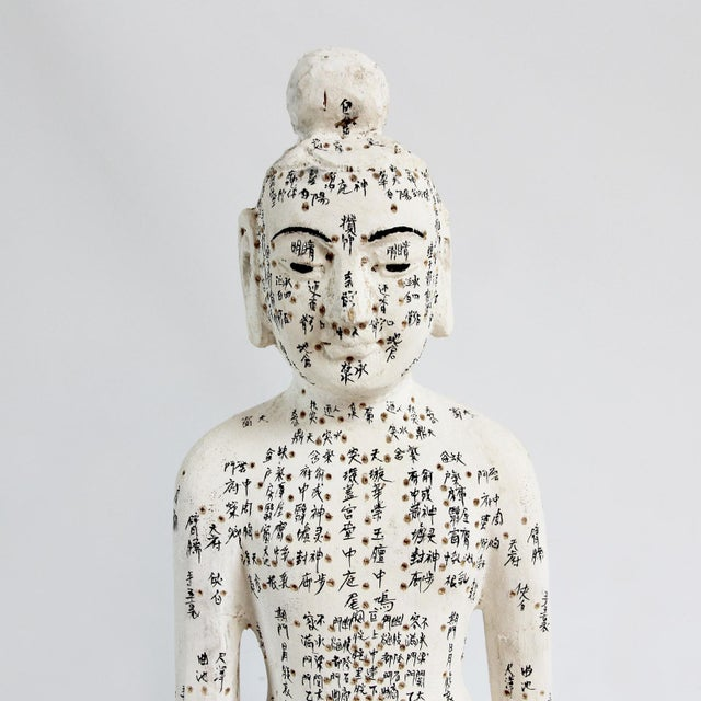 Asian Chinese Acupuncture Statue Medium Male For Sale - Image 3 of 4