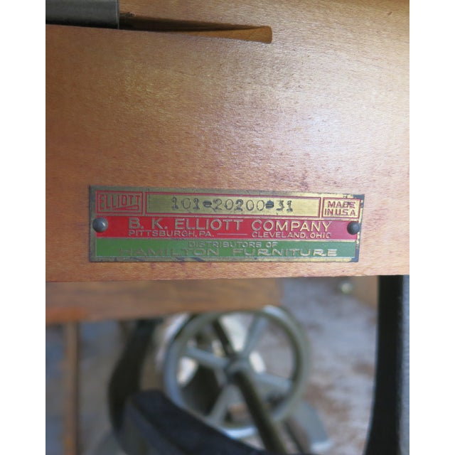 Green 20th Century Industrial Hamilton Drafting Table For Sale - Image 8 of 10