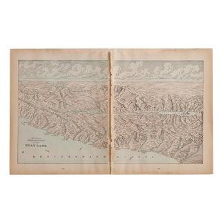 Cram's 1907 Map of Holy Land