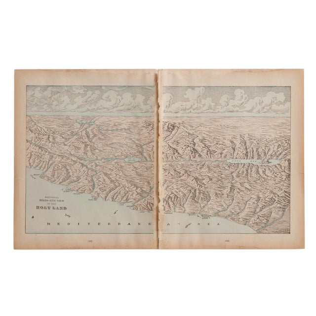 Cram's 1907 Map of Holy Land For Sale